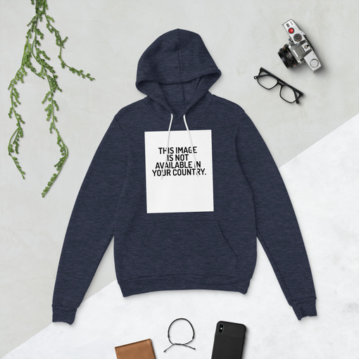 This Image Heather Navy Bella + Canvas Hoodie