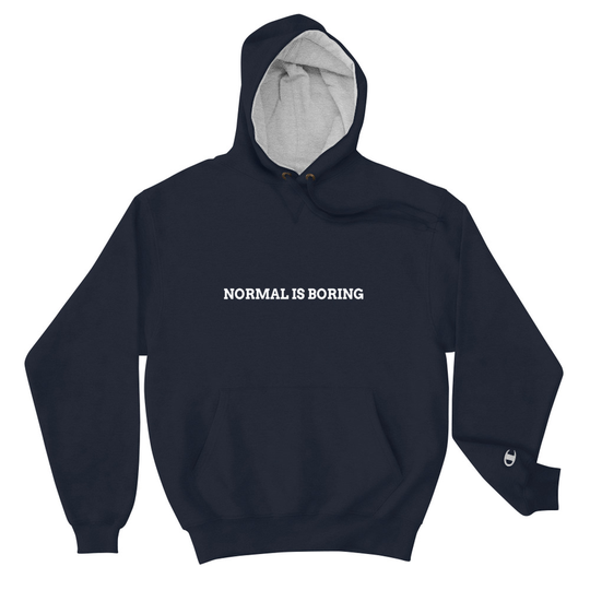 Normal is Boring Navy Champion Hoodie