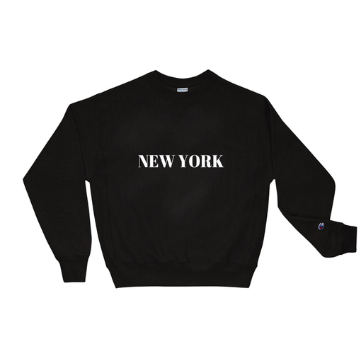 New York Black Champion Sweatshirt
