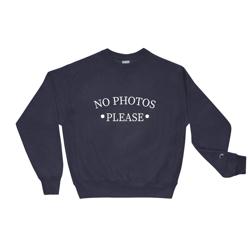 No Photos Navy Champion Sweatshirt