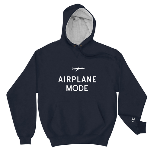 Airplane Mode Navy Champion Hoodie
