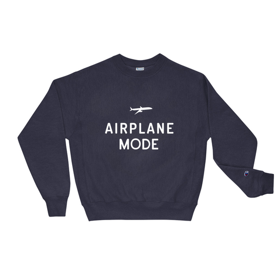 Airplane Mode Navy Champion Sweatshirt