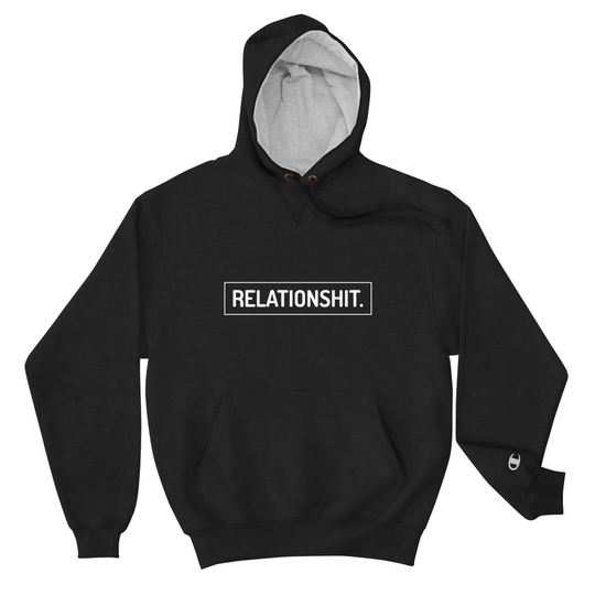 Relationshit Black Champion Hoodie