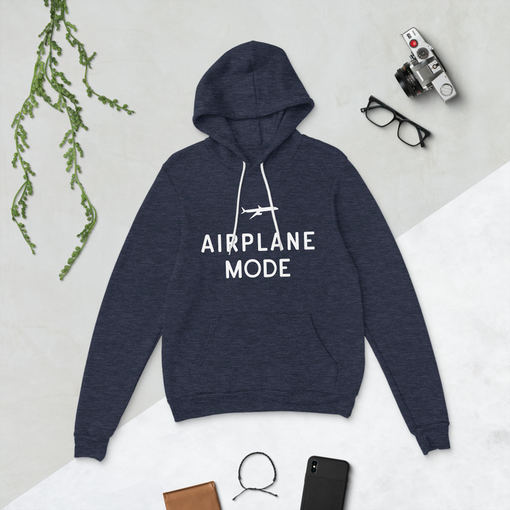 Airplane Mode Heather Navy Bella + Canvas Hoodie