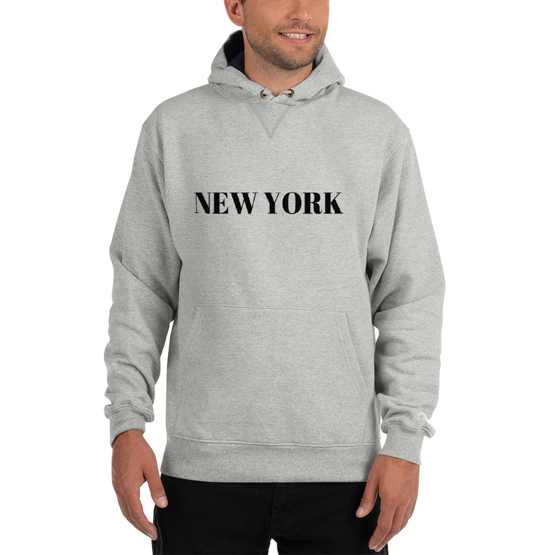 New York Grey Champion Hoodie