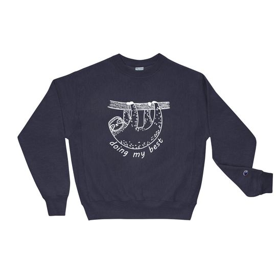Sloth Navy Champion Sweatshirt
