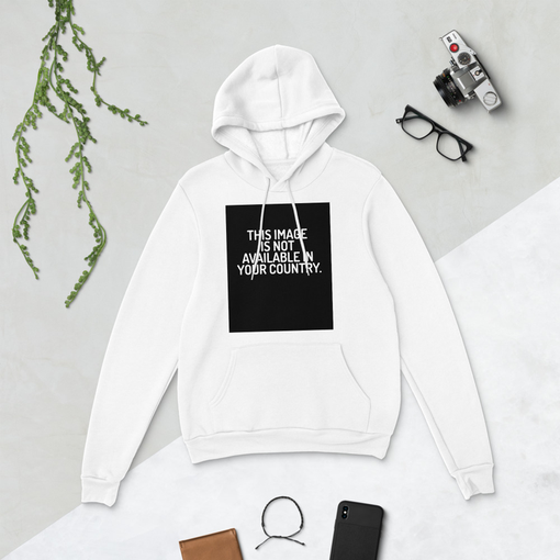 This Image White Bella + Canvas Hoodie