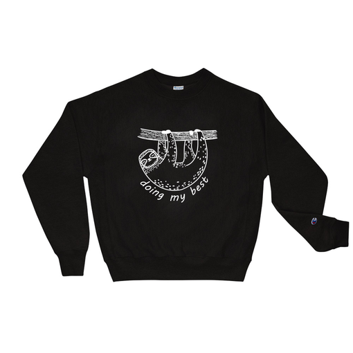 Sloth Black Champion Sweatshirt