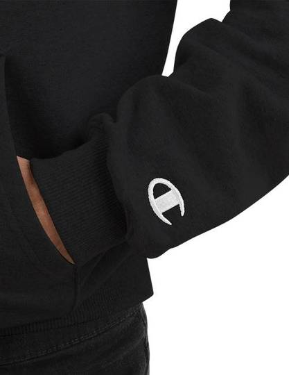 Adorable Black Champion Hoodie