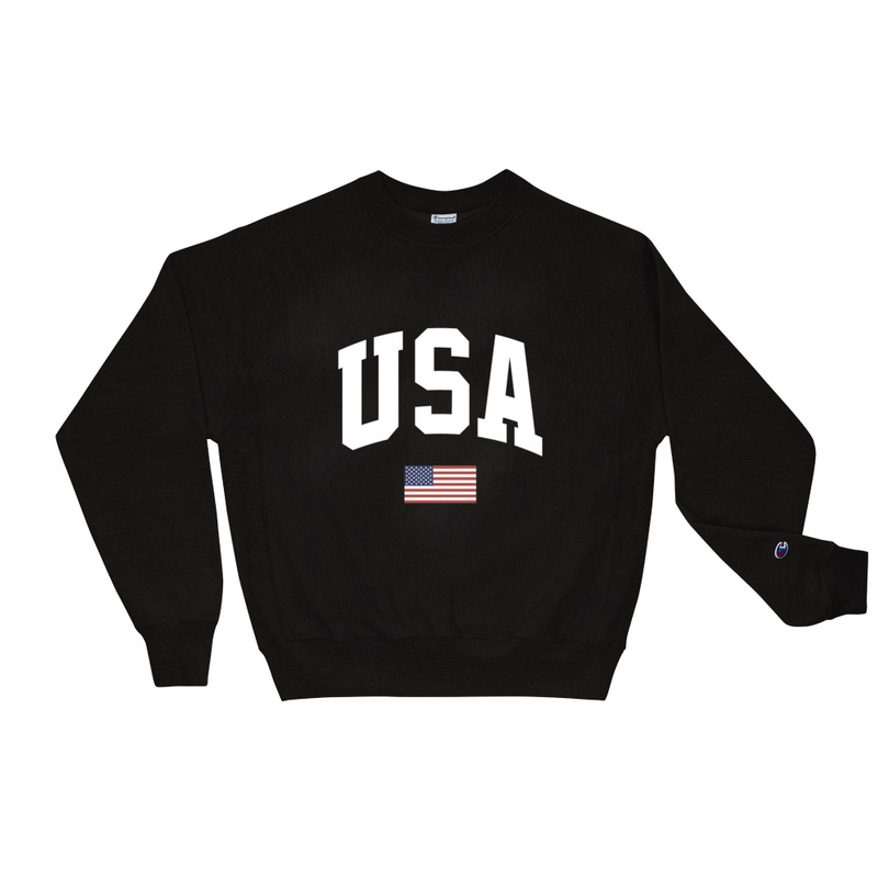 USA Black Champion Sweatshirt