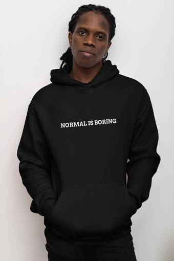 Normal Is Boring Black Champion Hoodie