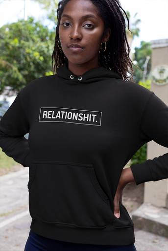 Relationshit Black Bella + Canvas Hoodie
